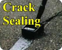 photo of crack sealing
